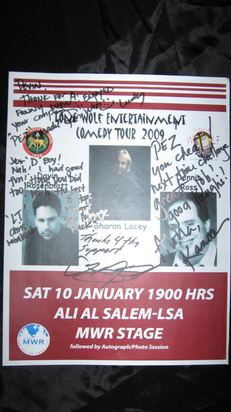 Flyer from Iraq and Kuwait Tour