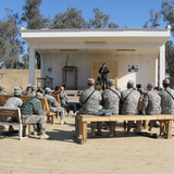 Performing at a Forward Operating Base in Iraq