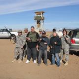 SFC Rick Maine, Dennis Ross, Davin, Sharon Lacey, Sheila Edwards in Iraq